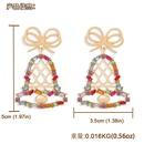 fashion Christmas bell alloy earrings  NHJQ281892