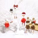 creative snowman earrings NHJQ281895