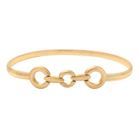 golden women's iron piece pair buckle  elastic belt NHJQ281901's discount tags