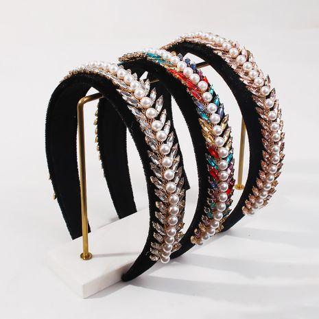 Fashion Baroque Pearl Headband NHMD281941's discount tags