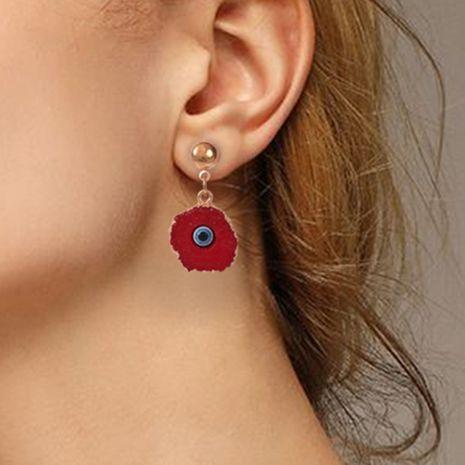 boucles d'oreilles rétro œil du diable en résine exagérée NHMD281940's discount tags