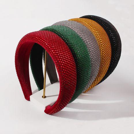 gold velvet sponge imitation diamond wide-side headband NHMD281943's discount tags