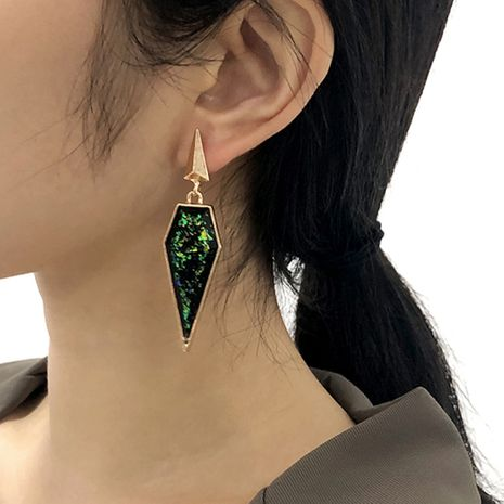 resin triangle exaggerated earrings NHMD281944's discount tags