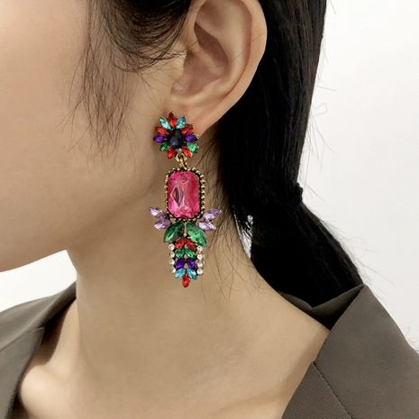 High-End-Ohrringe aus Glasdiamant NHMD281942's discount tags