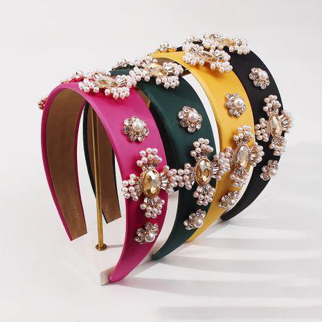 Baroque fashion retro broad-brimmed pearl headband  NHMD281952's discount tags