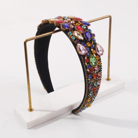 Baroque fashion retro diamond-studded  headband  NHMD281955's discount tags
