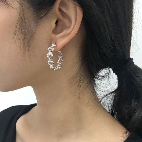 boucles d'oreilles fantaisie en forme de C NHMD281960's discount tags