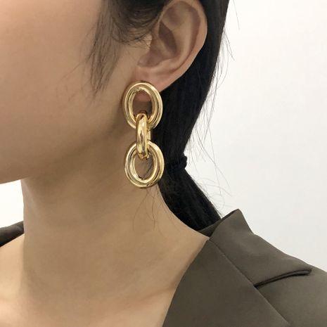 grandes boucles d'oreilles en métal de mode simple NHMD281963's discount tags