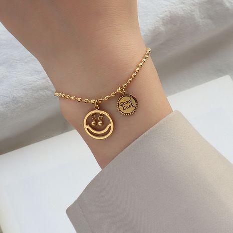 hip-hop smiley face perles de riz bracelet porte-bonheur NHOK282035's discount tags