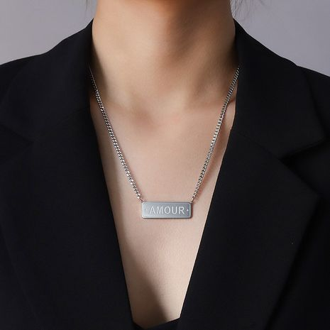 English Letter Clavicle Necklace  NHOK282036's discount tags