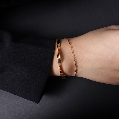 bracelet simple double épaisseur de forme spéciale NHOK282038's discount tags