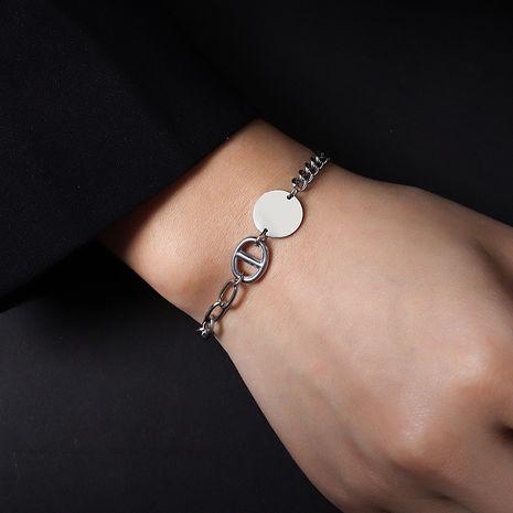 Bracelet rétro simple en acier titane NHOK282051's discount tags