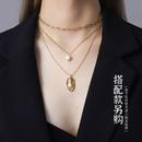 fashion simple beauty face mask pendant necklace  NHOK282069