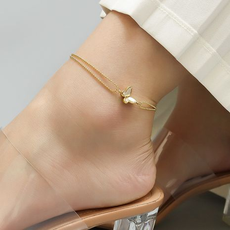 simple butterfly anklet  NHOK282079's discount tags