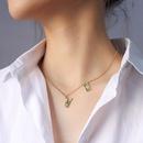 fashion  rabbit pendant titanium steel 18K gold plated necklace NHOK282083