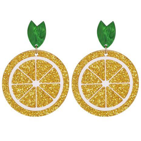 boucles d'oreilles en acrylique citron orange NHJJ282150's discount tags