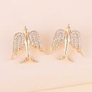 fashion alloy diamond bird earrings NHJJ282152
