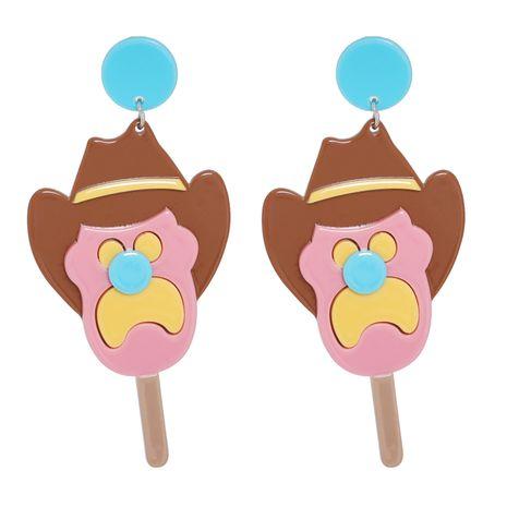 boucles d'oreilles de personnage de dessin animé couture acrylique NHJJ282154's discount tags