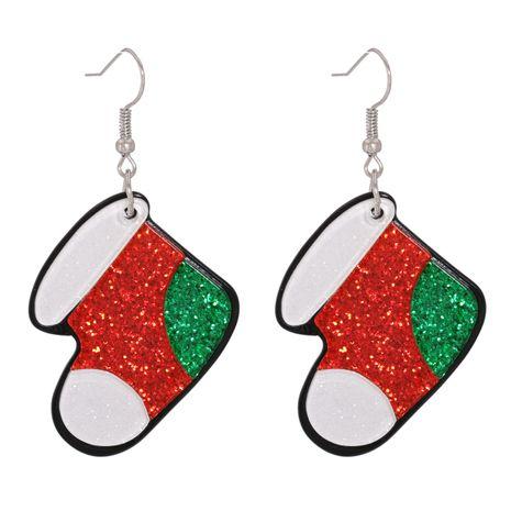 Boucles d'oreilles longues chaussettes de Noël en acrylique NHJJ282156's discount tags