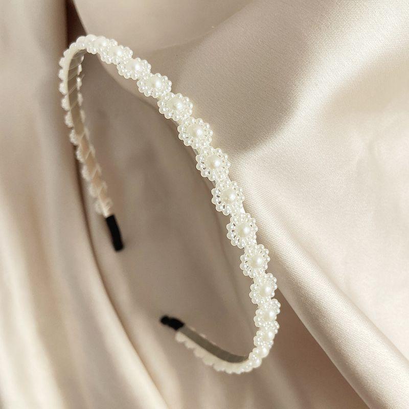 pearl bowknot crown headband NHPJ282173
