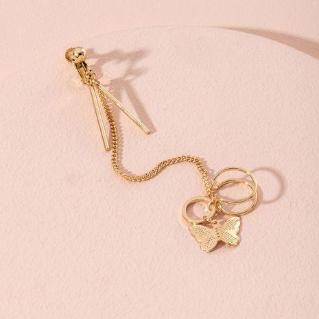 hollow butterfly tassel fashion long earrings  NHAI282178's discount tags