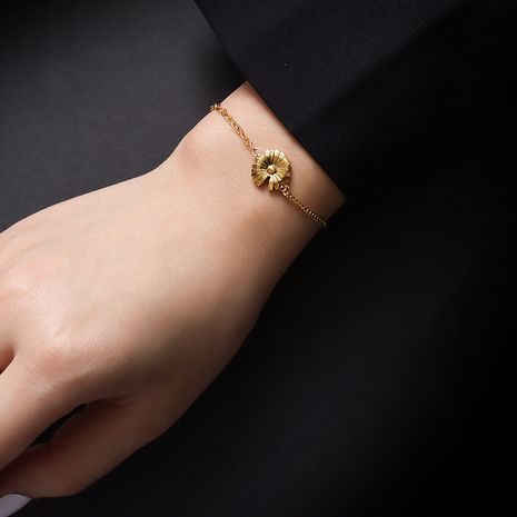 bracelet rétro simple fleur de marguerite NHOK282034's discount tags