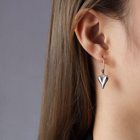 boucles d'oreilles en acier titane pendentif coeur mode NHOK281982's discount tags