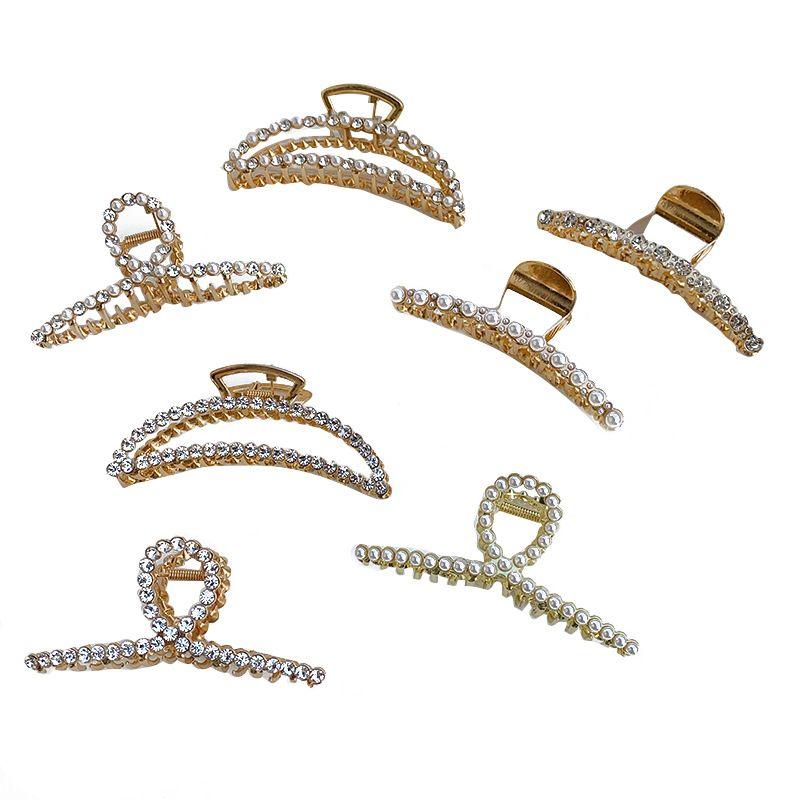 Korean version of alloy pearl diamond clip  NHSM281997