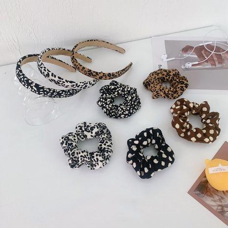 leopard print large intestine hair ring fabric headband NHSM282004's discount tags