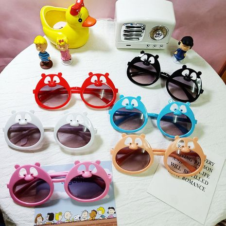 Cartoon cute bear children fashion sunglasses  NHBA282201's discount tags