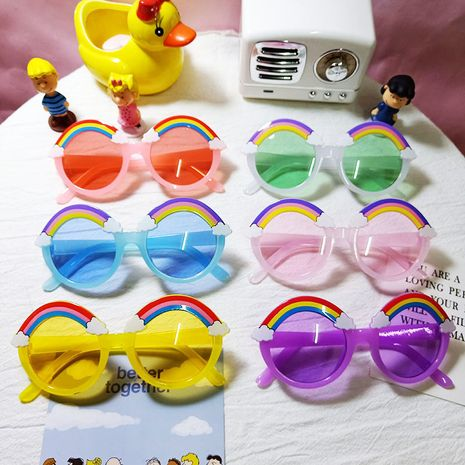 children's cute color lenses rainbow sunglasses  NHBA282203's discount tags