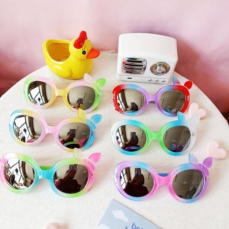 Children's fashion anti-UV cute sunglasses NHBA282207's discount tags