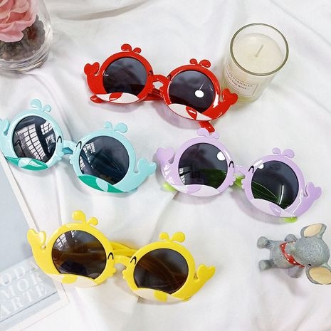 Children's polarized anti-ultraviolet cartoon shark sunglasses  NHBA282217's discount tags