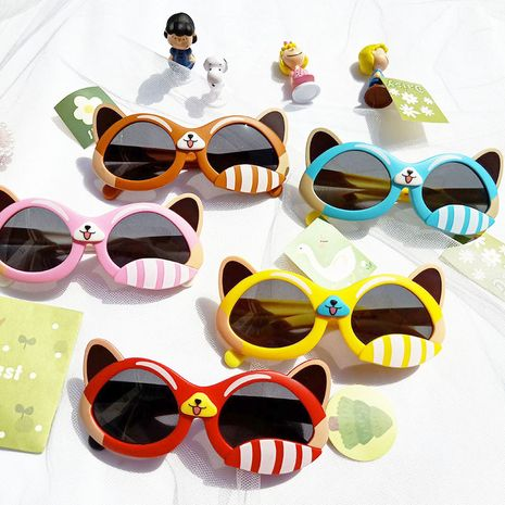 Cartoon cute rabbit fashion silicone children's sunglasses NHBA282218's discount tags