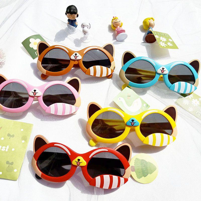 Cartoon cute rabbit fashion silicone childrens sunglasses NHBA282218