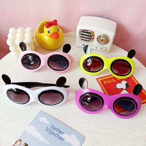 Anti-ultraviolet children's panda model sunglasses NHBA282222's discount tags