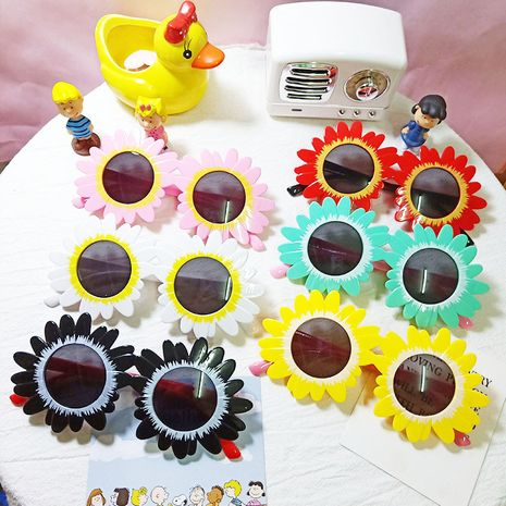 fashion sunflower children sunglasses  NHBA282223's discount tags