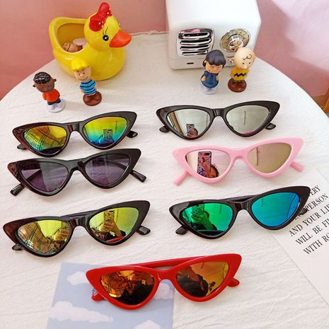 cute children cat eye fashion retro sunglasses NHBA282227's discount tags