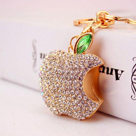 cute diamond-studded apple keychain  NHAK282236's discount tags