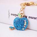 cute diamondstudded small apple keychain  NHAK282239
