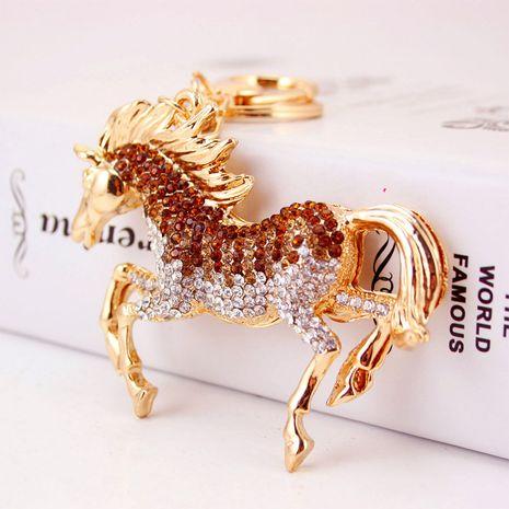 Llavero de diamantes de caballo del zodiaco de moda NHAK282256's discount tags