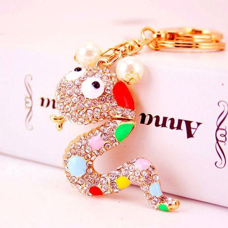 Fashion cute color zodiac snake keychain NHAK282258's discount tags