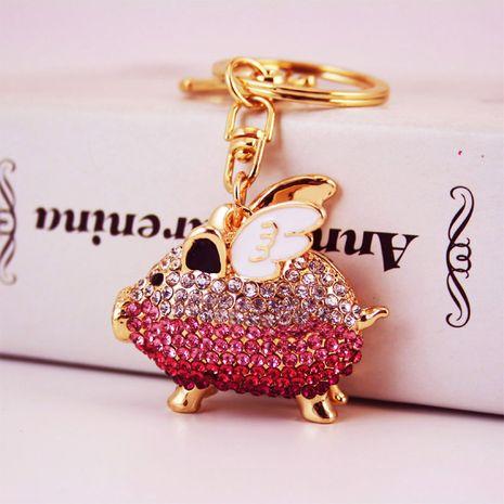 cute diamond wings piggy keychain  NHAK282259's discount tags