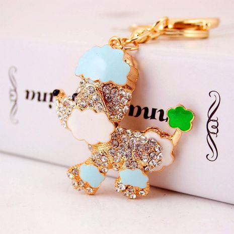 Fashion cute diamond cartoon dog keychain NHAK282261's discount tags