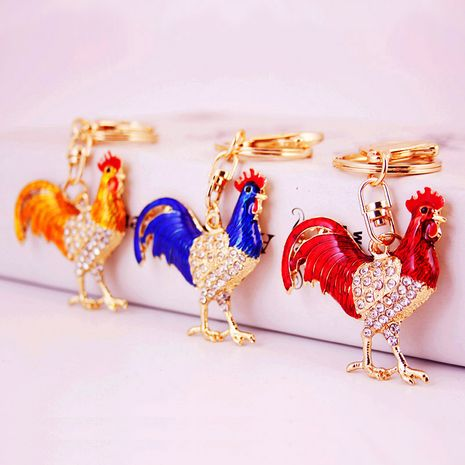 Chinese style cute zodiac rooster keychain  NHAK282262's discount tags