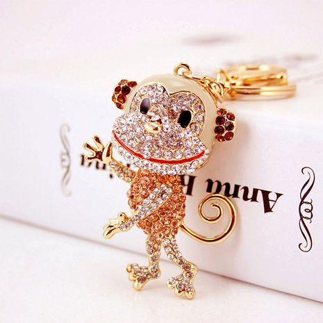 lindo llavero de mono del zodiaco de diamantes NHAK282268's discount tags