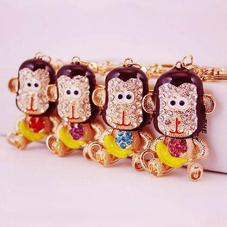 lindo llavero de mono pequeño de diamantes de cristal de dibujos animados NHAK282270's discount tags