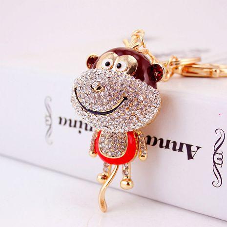 lindo llavero de mono de dibujos animados de diamantes NHAK282271's discount tags