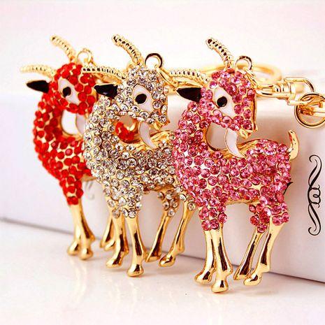 lindo llavero de cabra de cristal con diamantes NHAK282272's discount tags