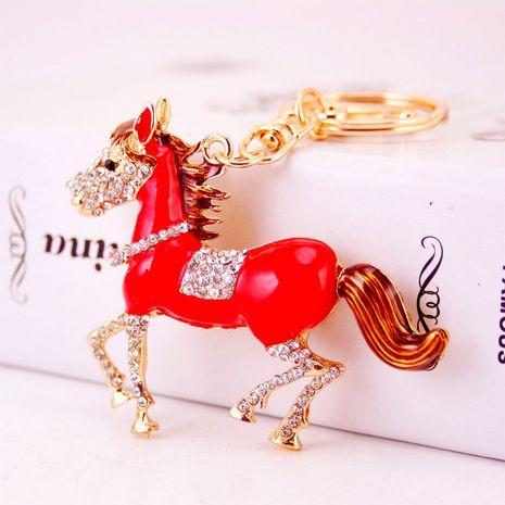 Llavero lindo del caballo del zodiaco del diamante de la moda NHAK282273's discount tags